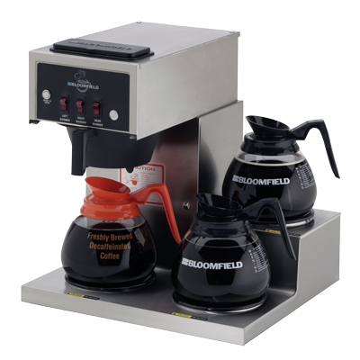 Bloomfield 8571-D3 3 Warmer Low Profile Pourover Decanter Brewer