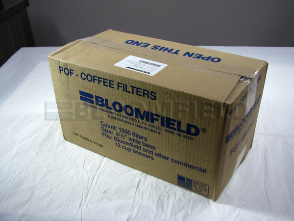 Bloomfield 8706-110 Paper Coffee Filters (pk 500)