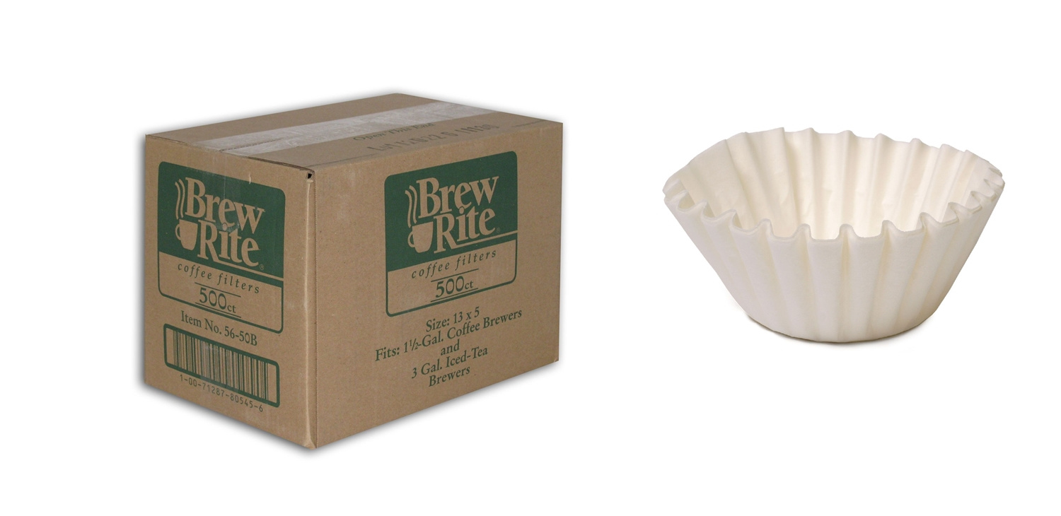 Brew Rite by Rockline 13 x 5 Coffee Filters (1.5 gal. 500 ct.)