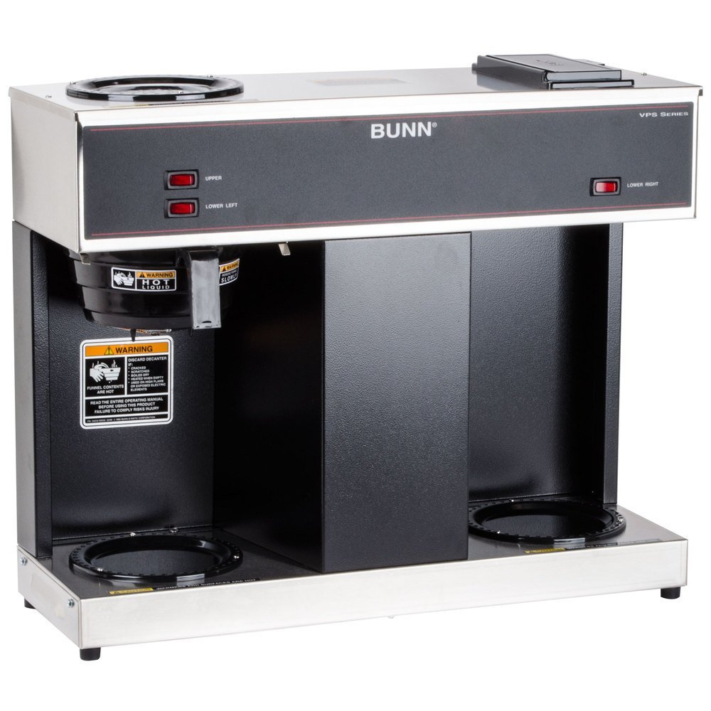 Bunn 04275.0031 VPS Three Warmer Pourover Decanter Brewer