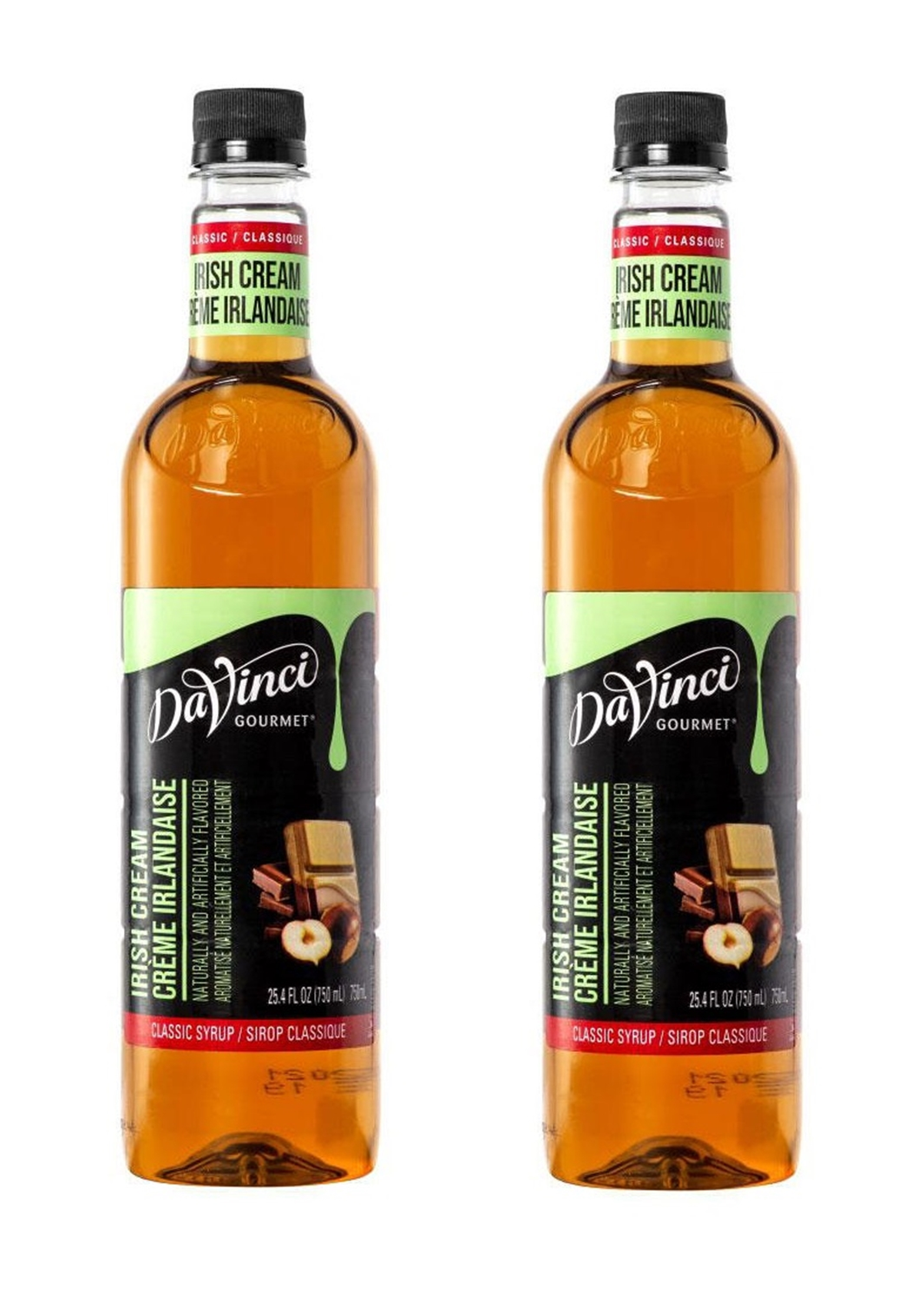 DaVinci Gourmet Classic Irish Cream Beverage Syrup (2 x 750 ml)