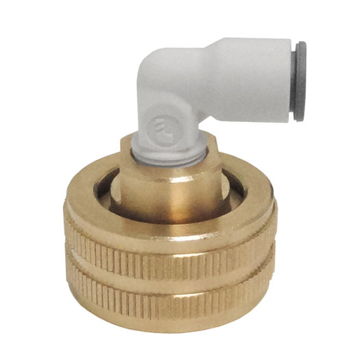 HHD FGHEG4 Female Garden Hose with 1/4 Quick Connect Elbow