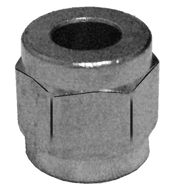 HHD HBSN4S Nickle Plated Brass Nut 1/4 Swivel