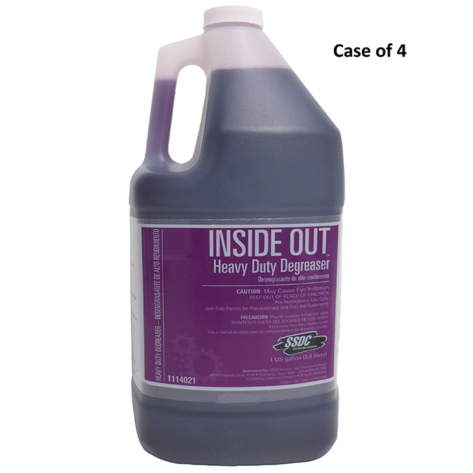 HHD IOC SSDC Inside Out Heavy Duty Degreaser 4 x 1 Gallon