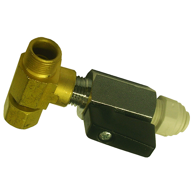 Max Adapter Valve MAXBV4F 3/8 x 1/4 Male Flare w/Ball Valve