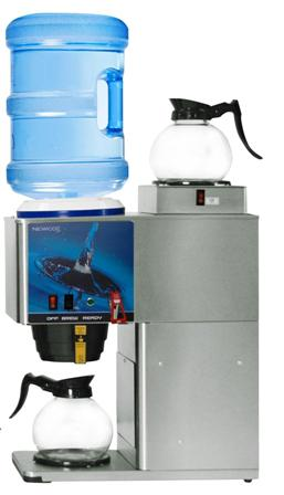 Newco KB-2F Two Warmer Bottled Water Brewer w/Faucet