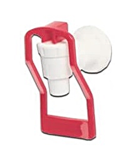 Tomlinson 1913427 HFS Cup Push Handle Faucet White/Red